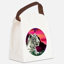 whitetiger1 Canvas Lunch Bag