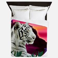 whitetiger1 Queen Duvet