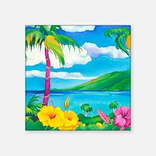 """Sunny MauiSquare Square Sticker 3"""" x 3"""""""