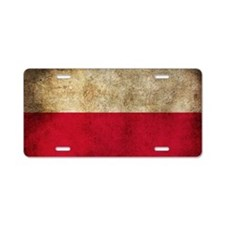 Polsk Aluminum License Plate