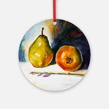 pear  apple Round Ornament