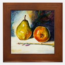 pear  apple Framed Tile