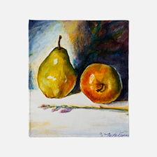 pear  apple Throw Blanket