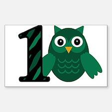 Birthday Boy Owl with a 1 Decal