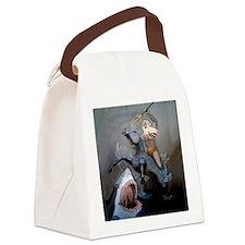 NeptuneBattlesTile Canvas Lunch Bag