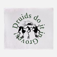 Druids Do It In Groves Throw Blanket