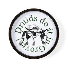 Druids Do It In Groves Wall Clock