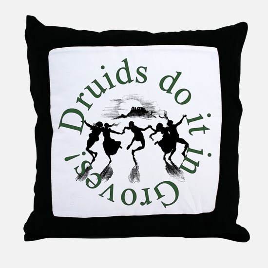 Druids Do It In Groves Throw Pillow