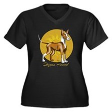 Ibizan Hound with Sun Plus Size T-Shirt
