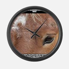 Niki shirt Large Wall Clock