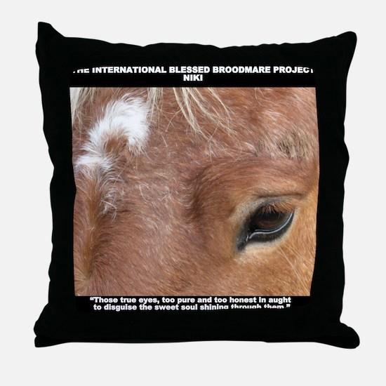 Niki shirt Throw Pillow