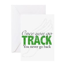 2-once_you_go_track_blue_large Greeting Card