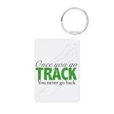 2-once_you_go_track_blue_l Keychains