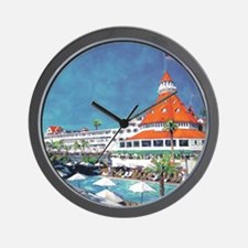 Hotel Del by RD Riccoboni 9x12 Wall Clock