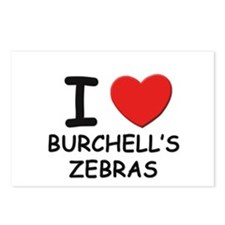 I love burchell's zebras Postcards (Package of 8)