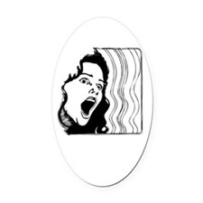 I cant promise blk Oval Car Magnet