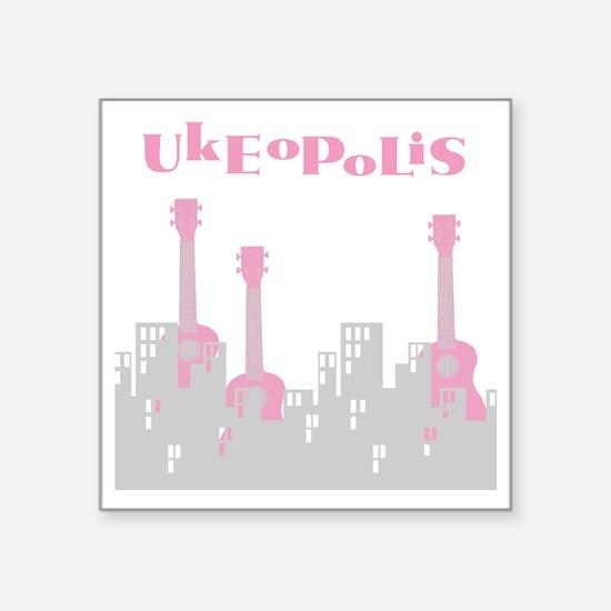 """ukulele uke ukelele Square Sticker 3"""" x 3"""""""