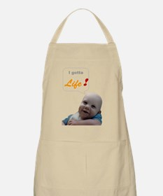 Abortion19 NOT AN OPTION 4 BabyBigTalk Apron