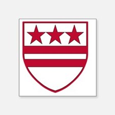 "George Washingtons Coat of  Square Sticker 3"" x 3"""
