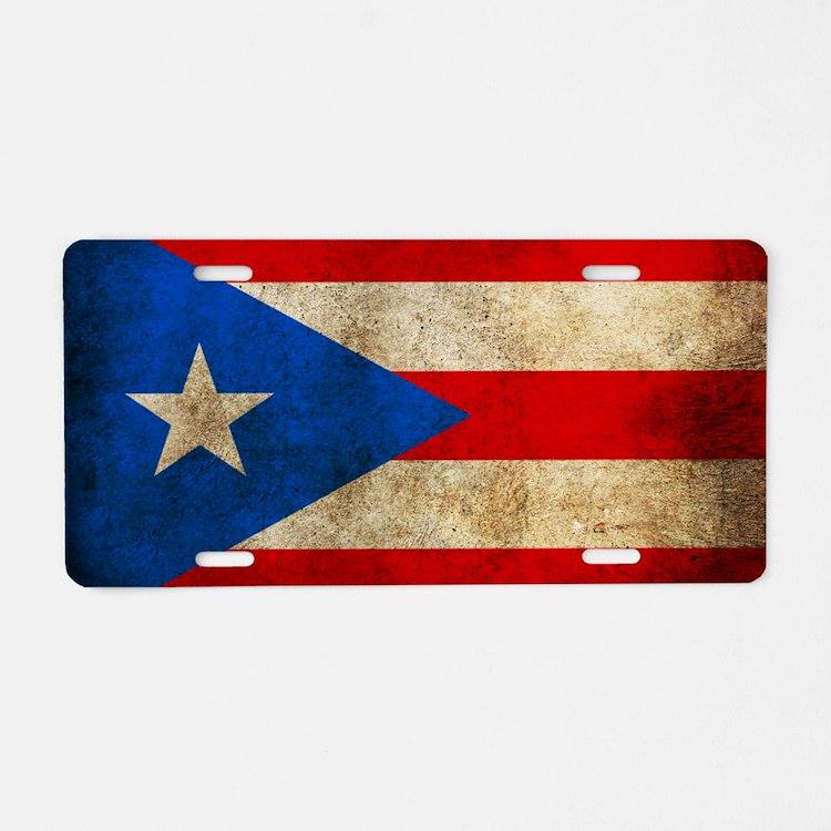 PuertoR Aluminum License Plate