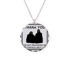2-BURKA Necklace Circle Charm
