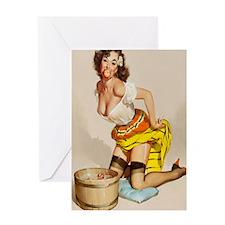 apple poster mini Greeting Card