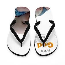 Abortion17 NOT AN OPTION 4 BabyBigTalk Flip Flops