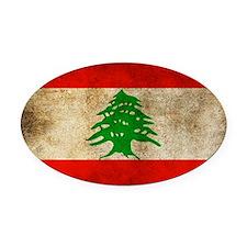 Liban Oval Car Magnet