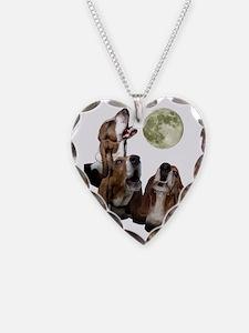 5-threebassetmoon.gif Necklace Heart Charm
