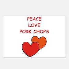 pork,chop Postcards (Package of 8)