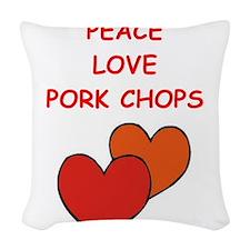 pork,chop Woven Throw Pillow