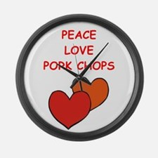 pork,chop Large Wall Clock