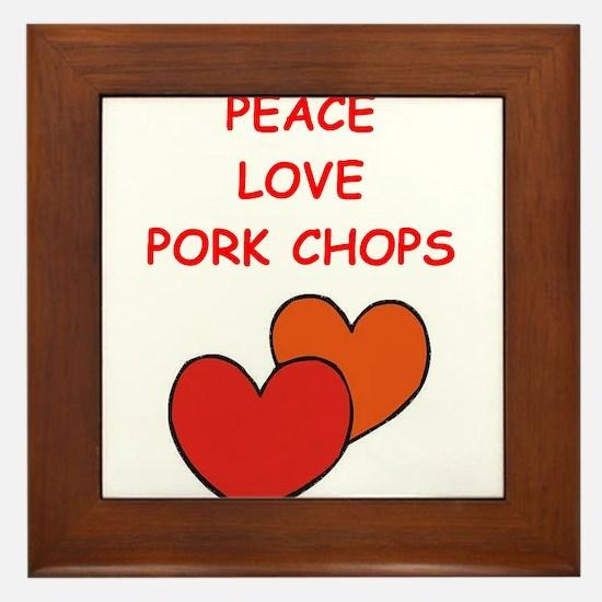 pork,chop Framed Tile