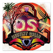 """Lost TV Destiny Calls Square Car Magnet 3"""" x 3"""""""