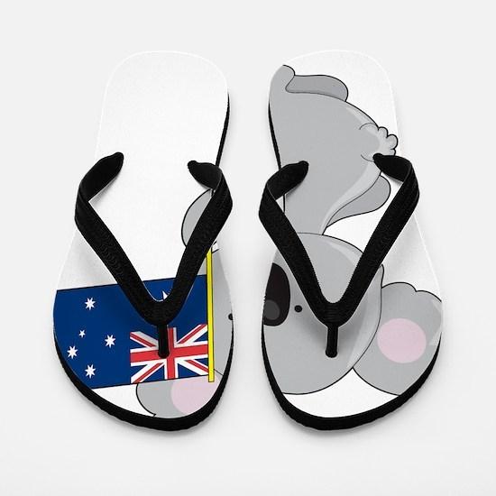 koala australian flag Flip Flops