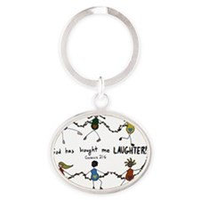laughter Oval Keychain
