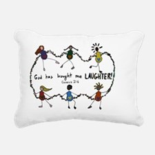 laughter Rectangular Canvas Pillow