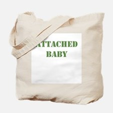 Attached Baby Khaki Tote Bag