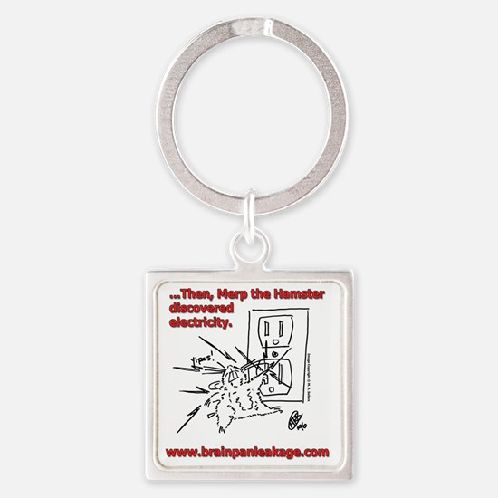 Electricity Tee Square Keychain