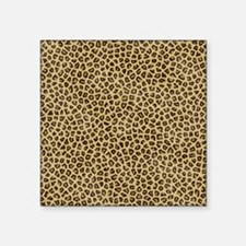 "leopard life Square Sticker 3"" x 3"""