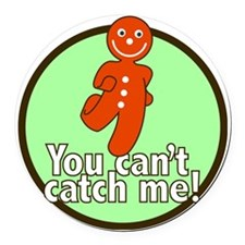 gingerbread_man_green_large Round Car Magnet