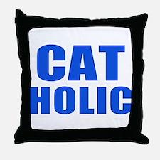 Cat Holic Throw Pillow