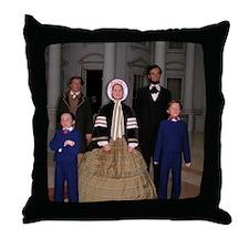 Lincoln Family Throw Pillow