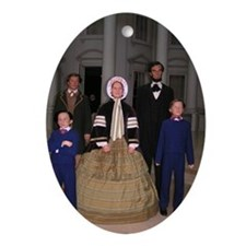 Lincoln Family Oval Ornament