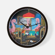 Birds Playing Poker Wall Clock