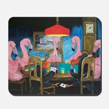 Birds Playing Poker Mousepad