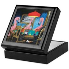 Birds Playing Poker Keepsake Box