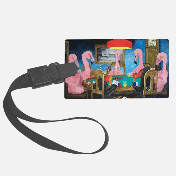 Birds Playing Poker Luggage Tag