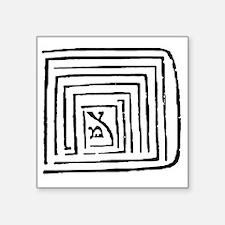 """sefirotonWhite Square Sticker 3"""" x 3"""""""