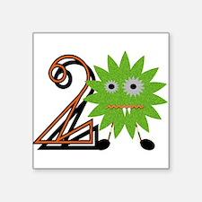 2nd Birthday Boy Monster Sticker